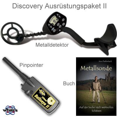 Discovery 3300 Metalldetektor Ausrüstungspaket mit Whites Bullseye II Pinpointer