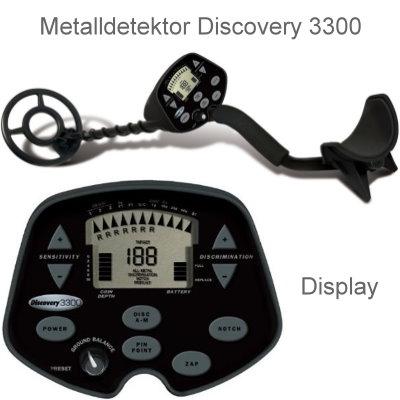 Discovery 3300 Ausrüstungspaket II (Metalldetektor & Pinpointer Whites & Schatzsucherhandbuch)